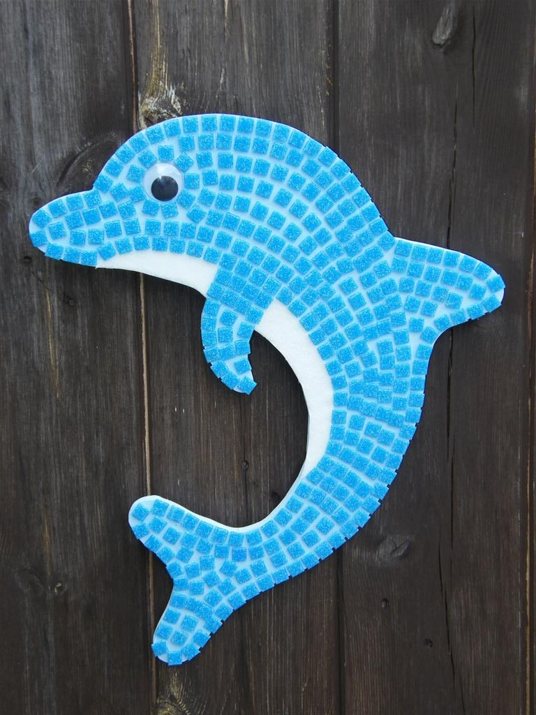 How about a jumping dolphin swimming in your bathroom?
