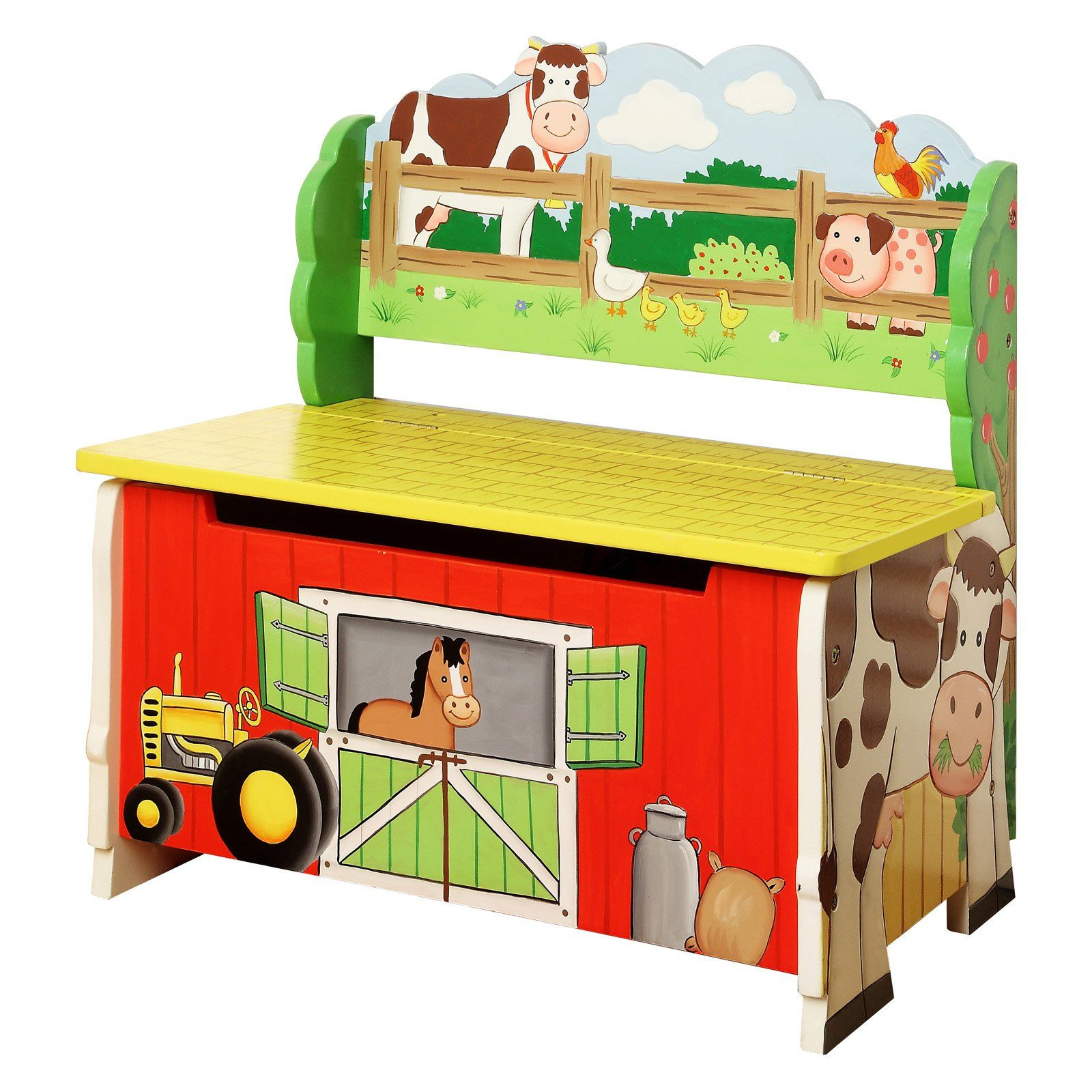 Fantasy Fields Happy Farm Storage Bench Kids Storage