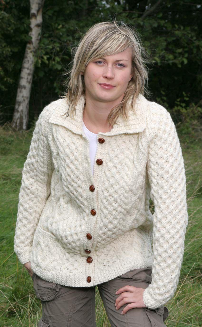 Free Aran Cardigan Knitting Patterns (With images) | Knit ...