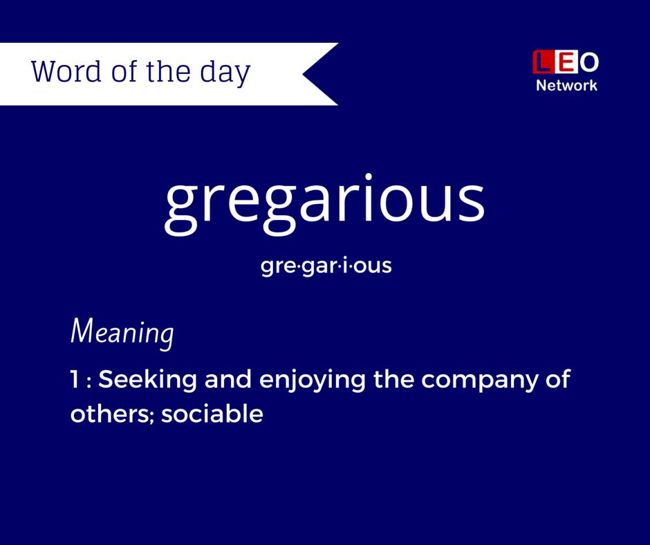 Gregarious etymology