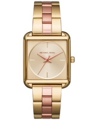 10794d4b7daad Michael Kors Women's Lake Two-Tone Stainless Steel Bracelet Watch 32x32mm  MK3665
