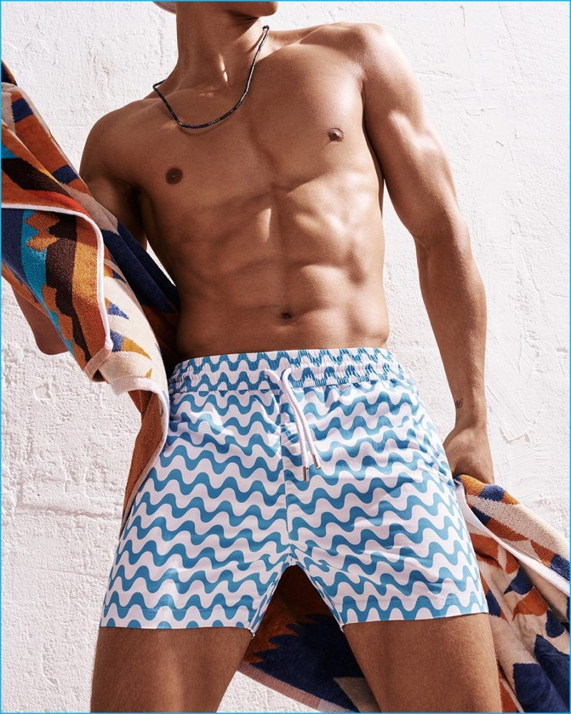 7a81941f99 Trevor Signorino Rocks Swimwear for GQ Summer Shoot | Men - Casual ...
