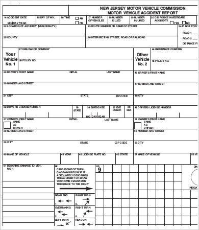 Vehicle Accident Report Template 7 Professional Templates