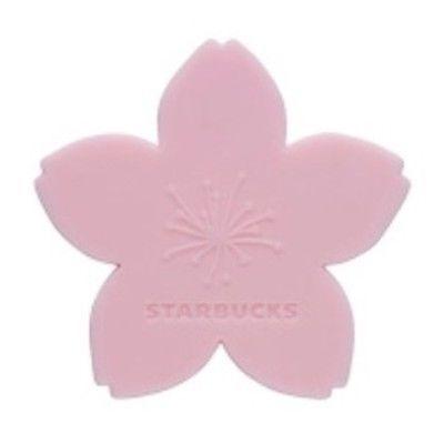 Starbucks Sakura 2015 Taiwan Cherry Blossom Petals Shape Silicone Coaster Pink Cherry Blossom Petals Silicone Coasters Petals