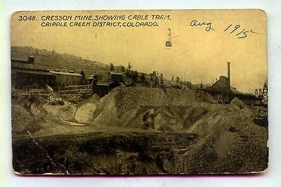 Cresson-Mine-Showing-Cable-Tram-Cripple-Creek-District-COLORADO-B-W ...