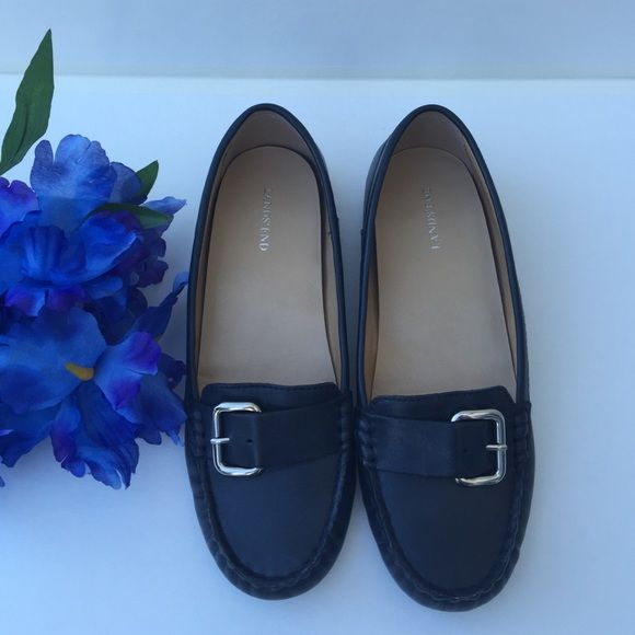 785ae14b787 Lands  End Loafers Like new! Navy blue with silver buckle Lands  End Shoes