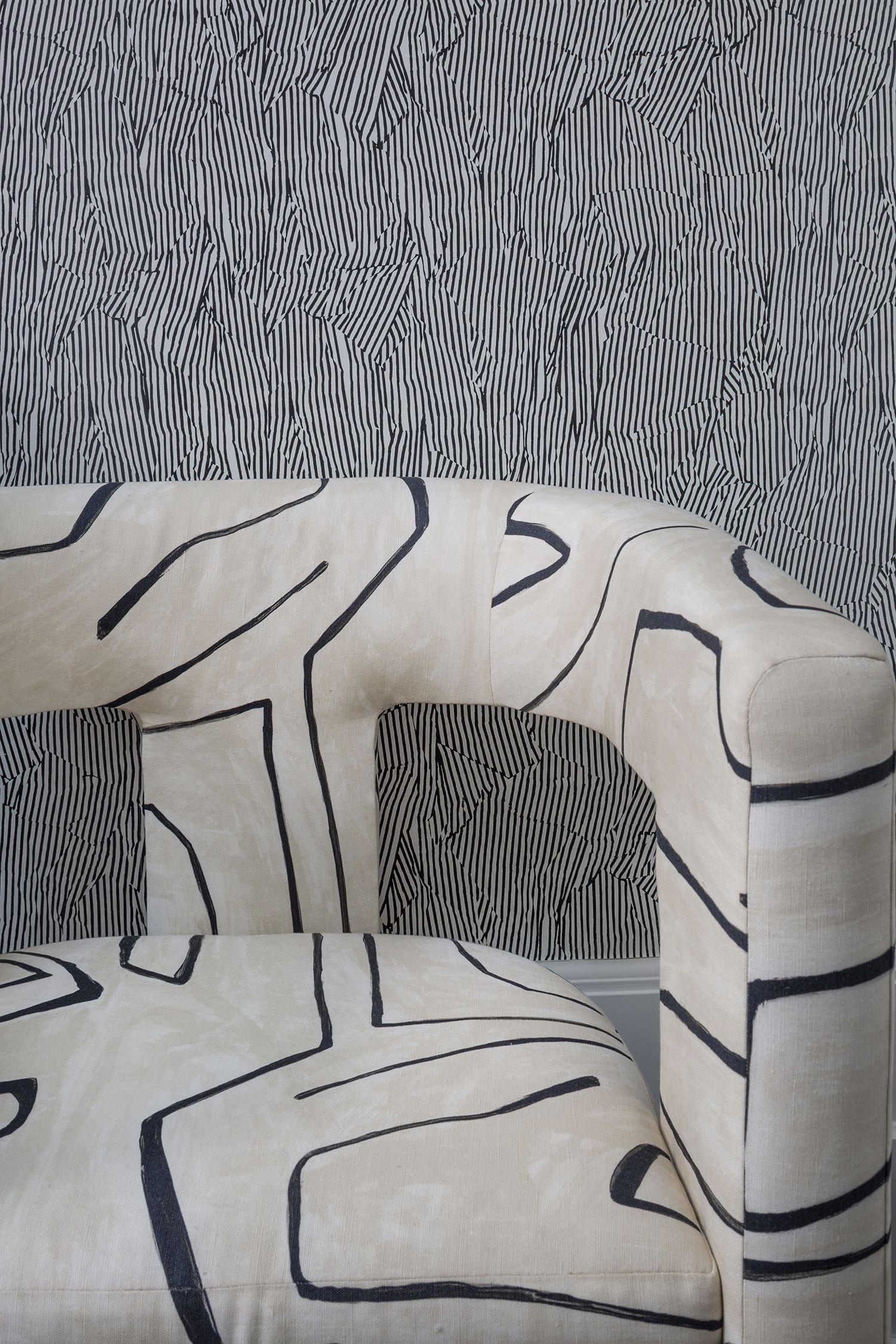 Graffito fabric Kelly wearstler wallpaper, Colorful