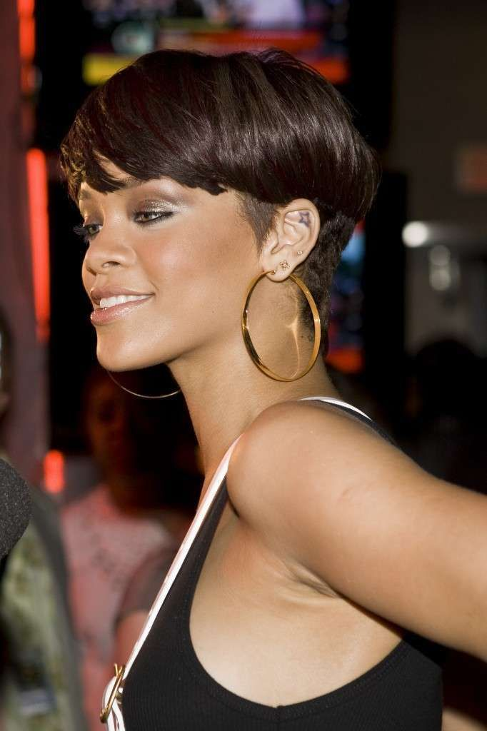 Rihanna Short Hairstyles Back View