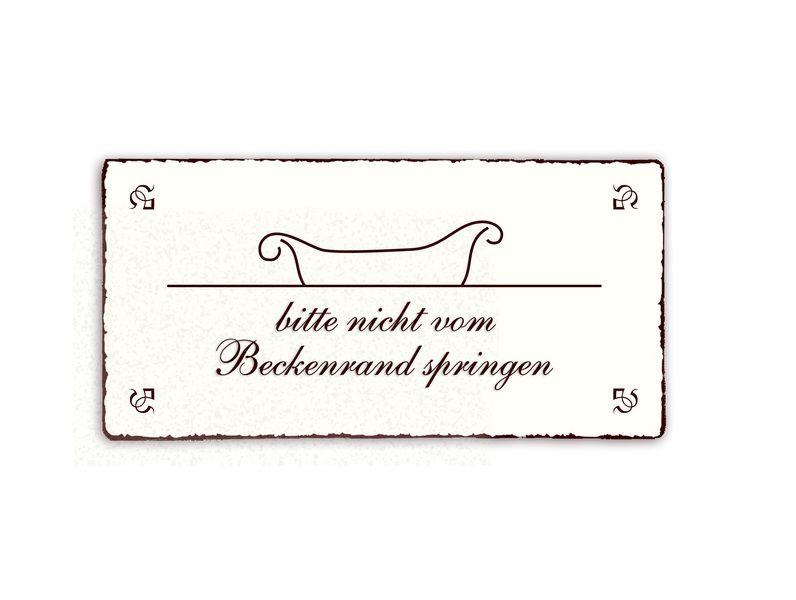 Shabby Holz Deko Wand Tür Schild Vintage GÄSTE TOILETTE Türschild Dekoschild
