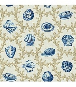 Home Decor Fabric Waverly The Age Of Exploration Shell Walks Porcelain Joann Com Beach Cottage Decor Home Decor Fabric Blue Home Decor