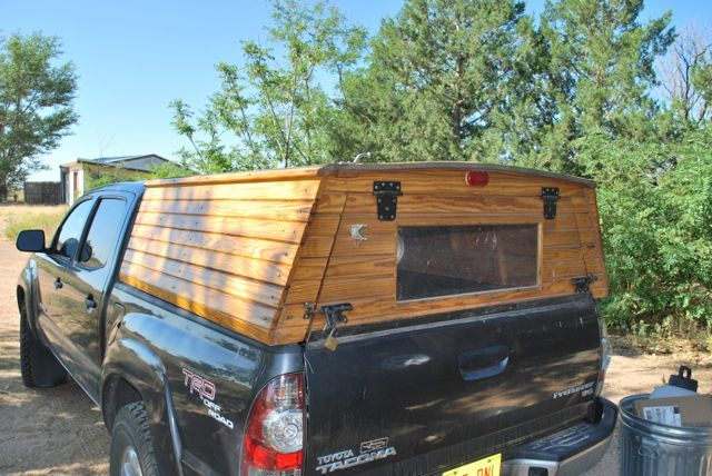 Here Are A Few Images To Clarify Some Questions About The Wooden Topper It Is Not A Work Of Art It Was Truck Toppers Wooden Truck Bedding Diy Truck Bedding