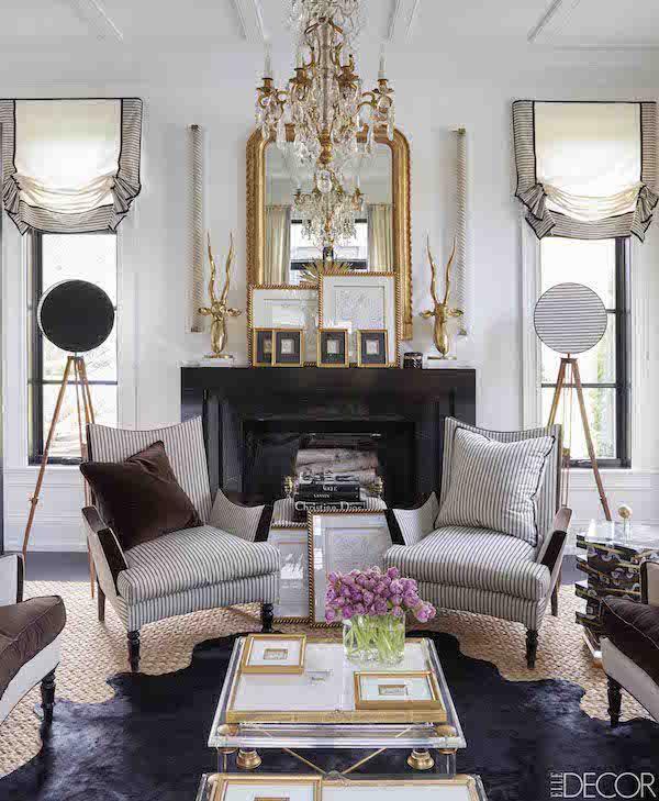 . Glamour Goes Bold in an ELLE DECOR Sneak Peek   Lovely Living Areas