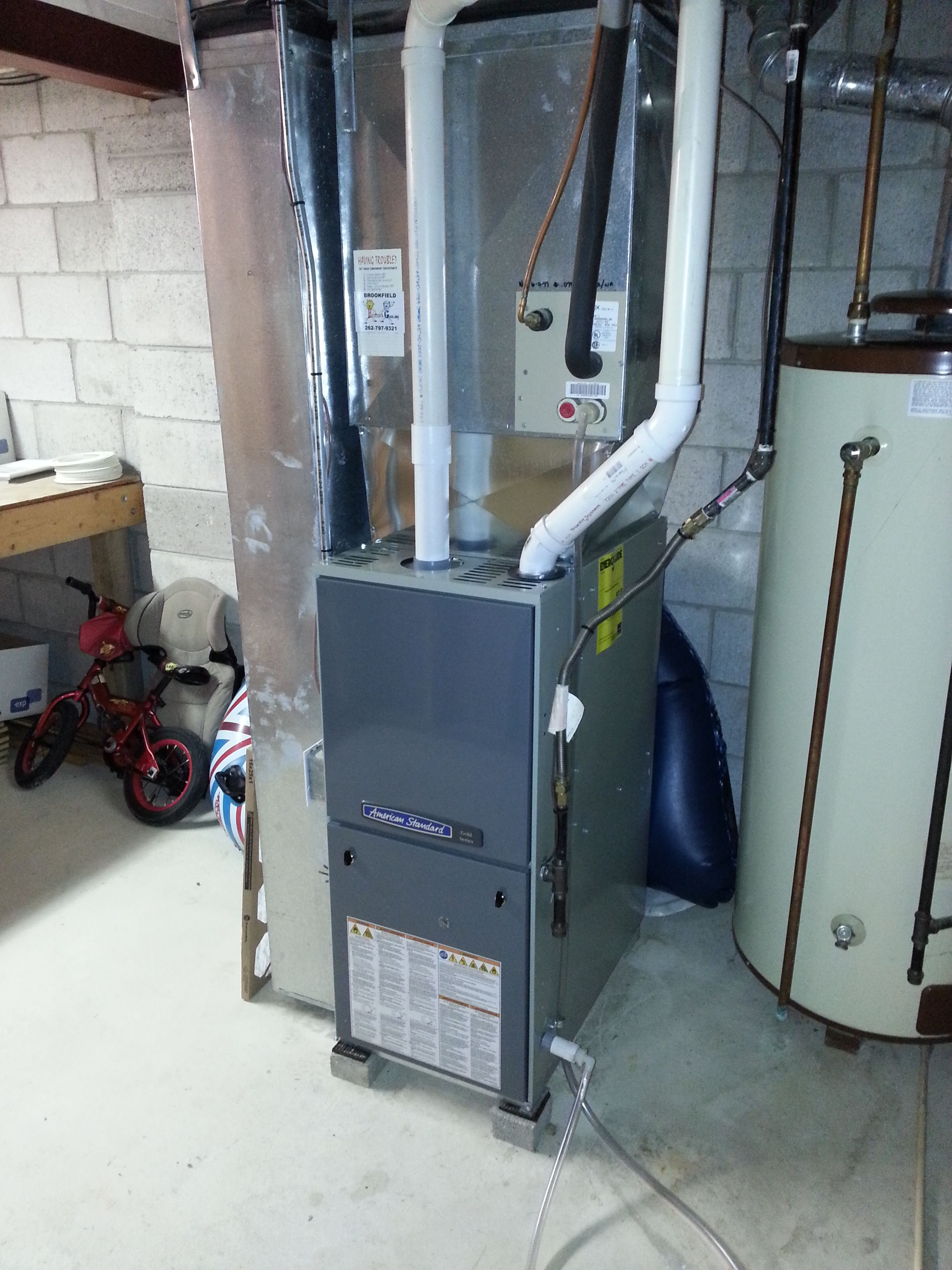 American Standard Two Stage, Variable Speed Furnace 97%+ with cased ...