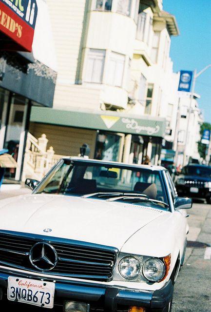 1970s Mercedes SL Convertible   Cow Hollow, San Francisco | Flickr