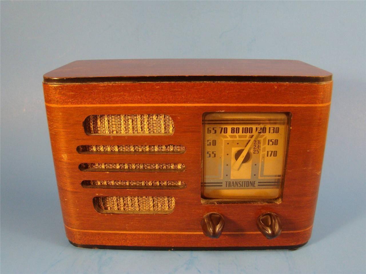 Vintage Art Deco Wood Philco Transitone Tube Radio Works | eBay