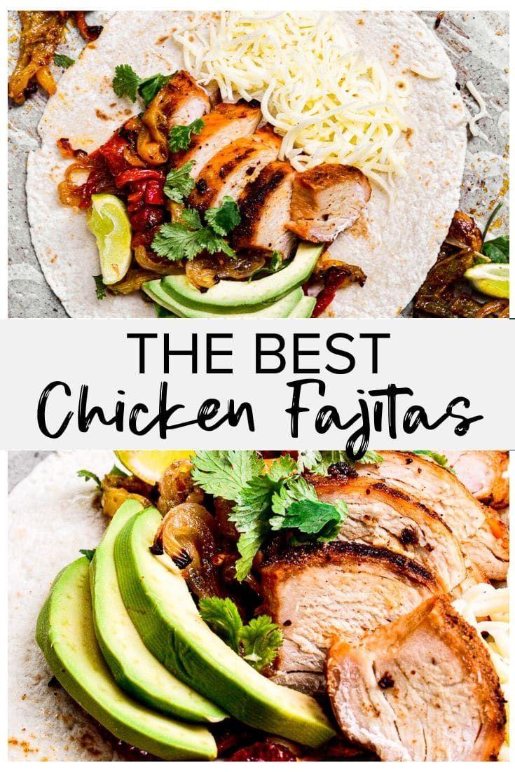 Best Chicken Fajitas Recipe Easy Chicken Recipes Video Recipe In 2020 Easy Chicken Recipes Chicken Recipes Fajitas