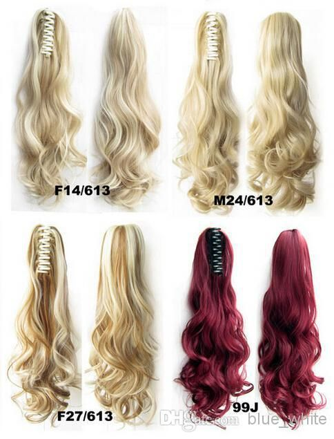 Easy Clip In Ponytail Hair Piece Hair Extension Synthetic Long Curly