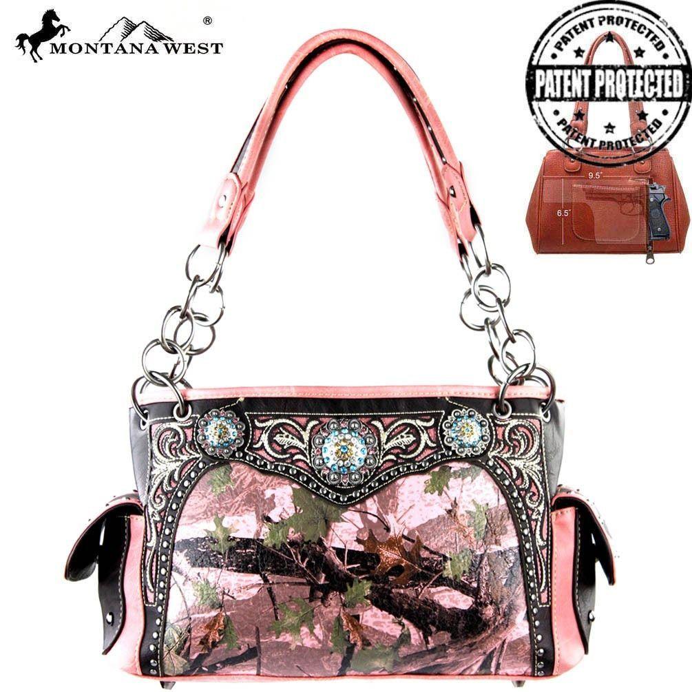 Montana West Camo Concealed Handbag