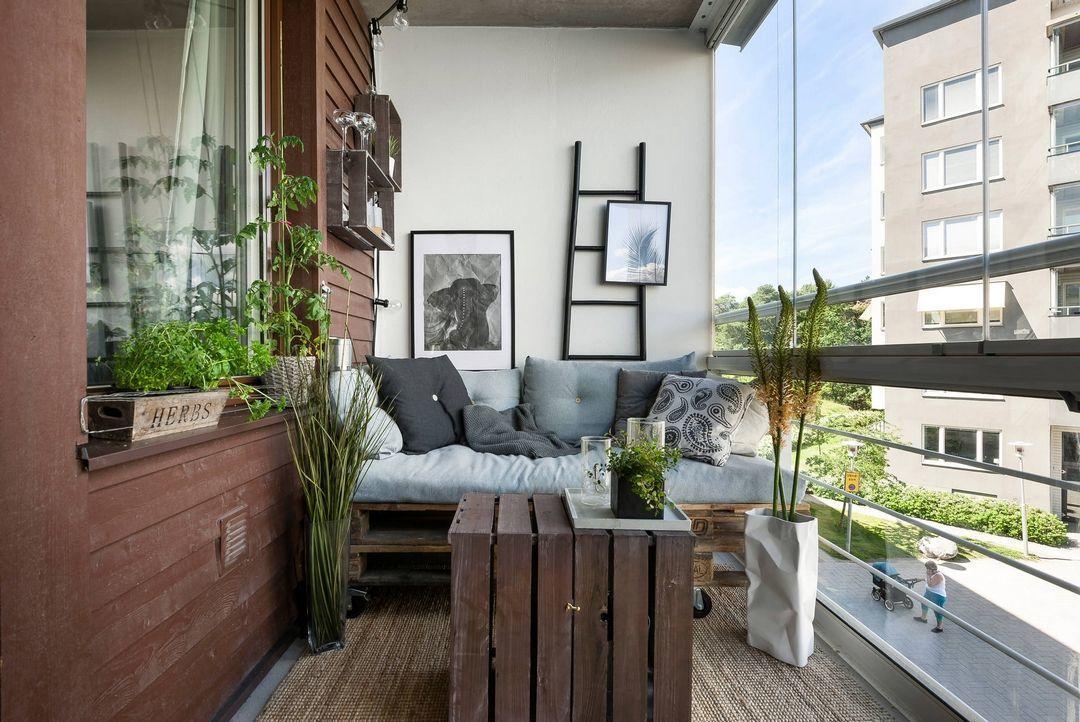 loggia id es am nagement et d coration balcon ferm. Black Bedroom Furniture Sets. Home Design Ideas