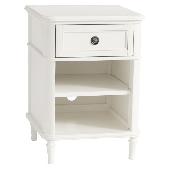 Colette Nightstand Simply White Ups Eclectic Bedside