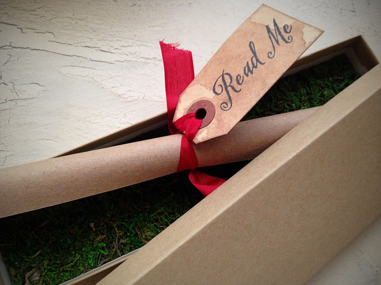 Alice in Wonderland WEDDING INVITATION - Scroll Wedding Invitation ...