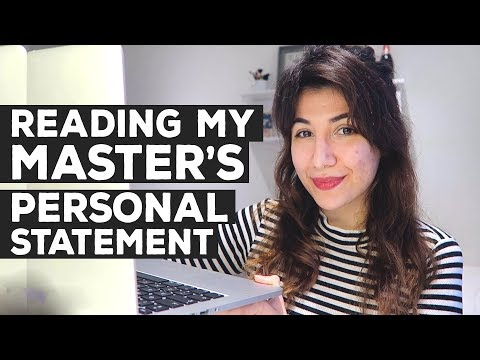 Reading My Master S Personal Statement Postgraduate King College London Atousa Youtube In 2020