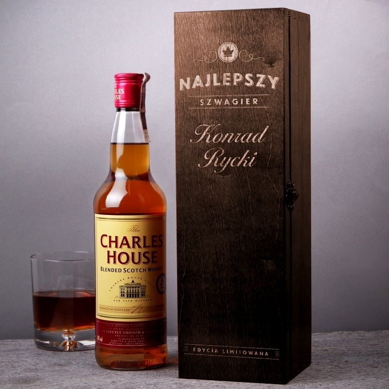Skrzynka Personalizowana Na Whisky Szwagier Whisky Whiskey Bottle Macallan Whiskey Bottle