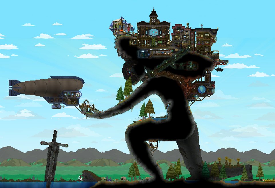 Terraria house design image by Kyle Thrall on Starbound