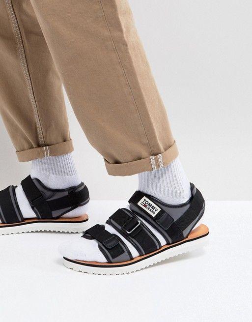 100% original cheap price latest sale online Tommy Jeans Strap Sandal In Black cheap sale official AvDz8a