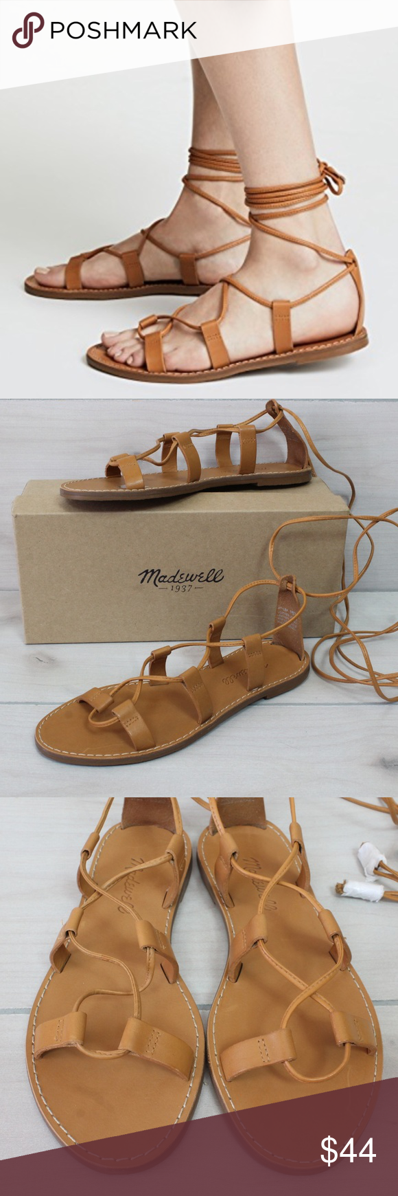 67d2db916238 Madewell Outstock Lace-Up Sandals Desert Camel 7 Madewell Outstock Wrap  Sandals in