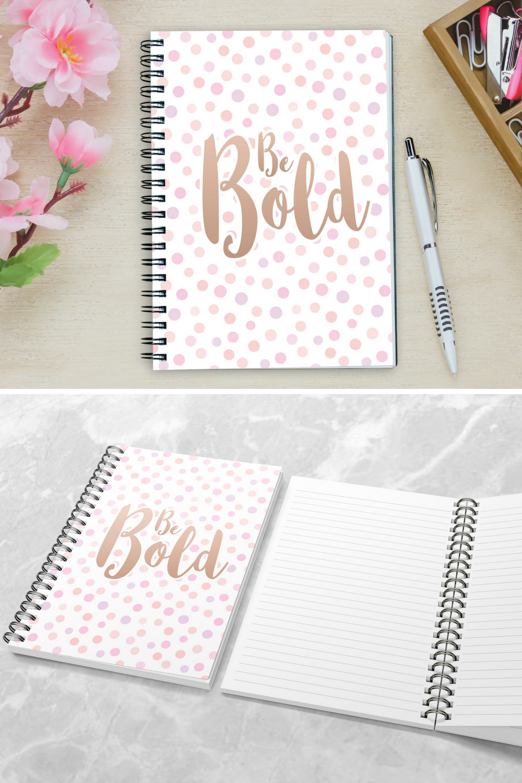 Cute Inspirational Spiral Notebook Ruled Line Inspirational