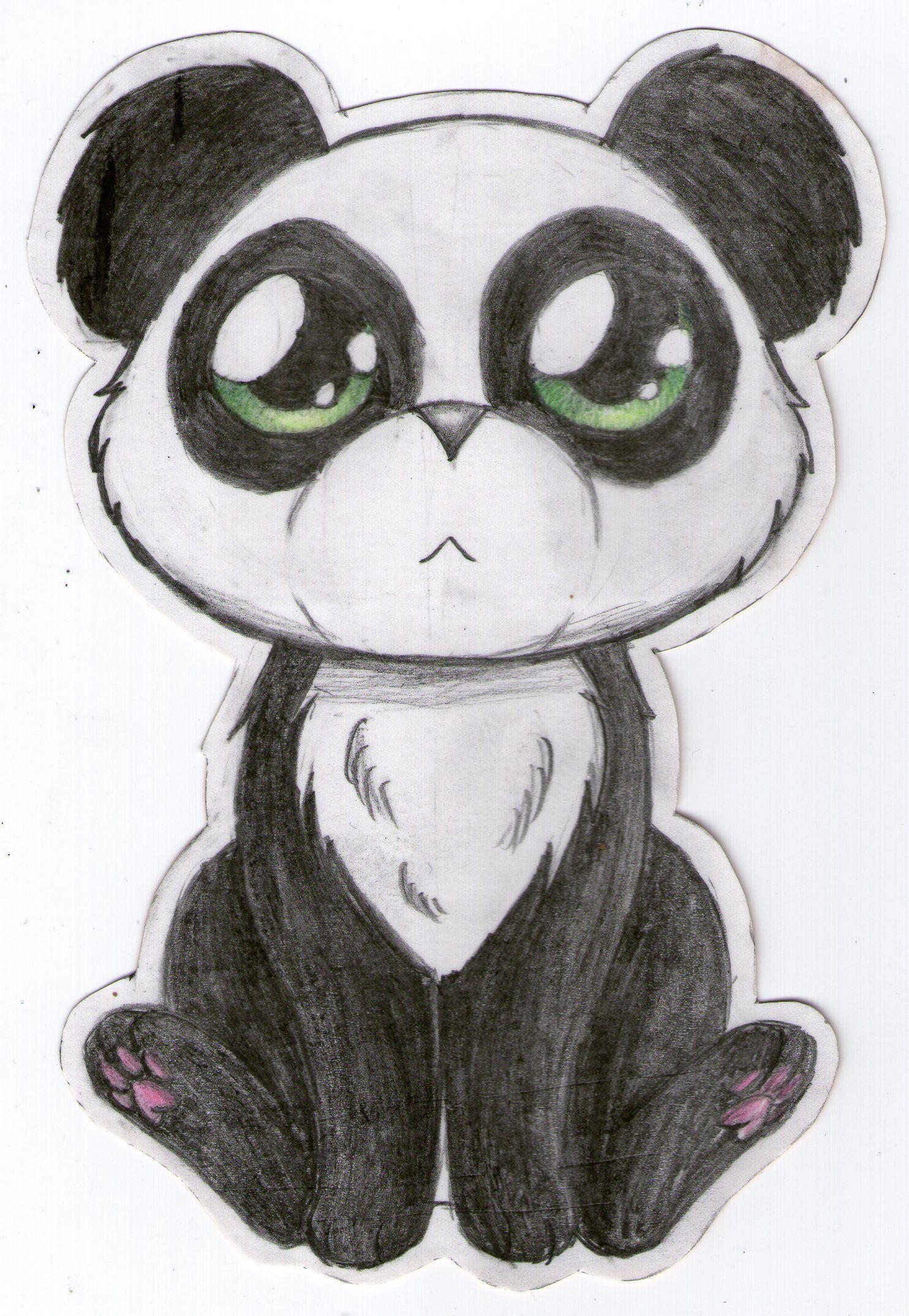 Картинки для срисовки карандашом легкие милашки панды