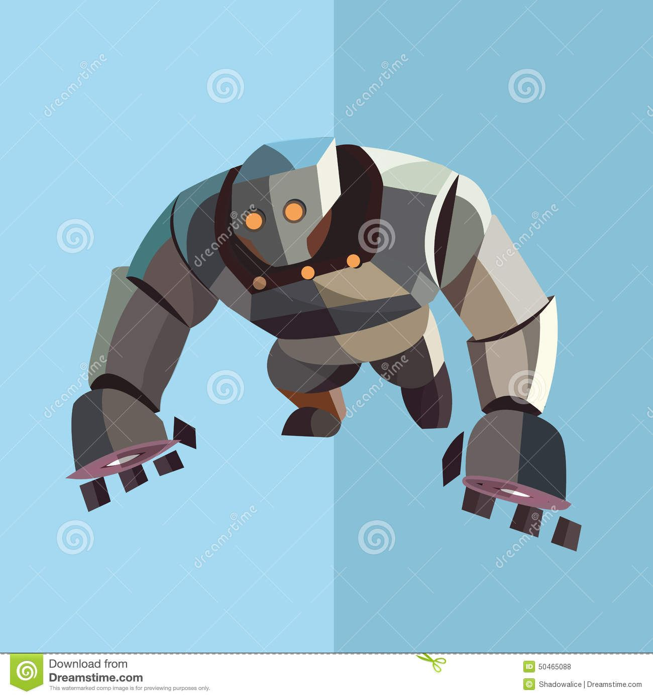 Robot Cartoon Icon Great For Any Use. Vector EPS10. Stock Vector - Image: 50465088