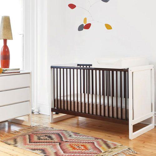 Robin Crib In White And Espresso Cribs Modern Kids Furniture