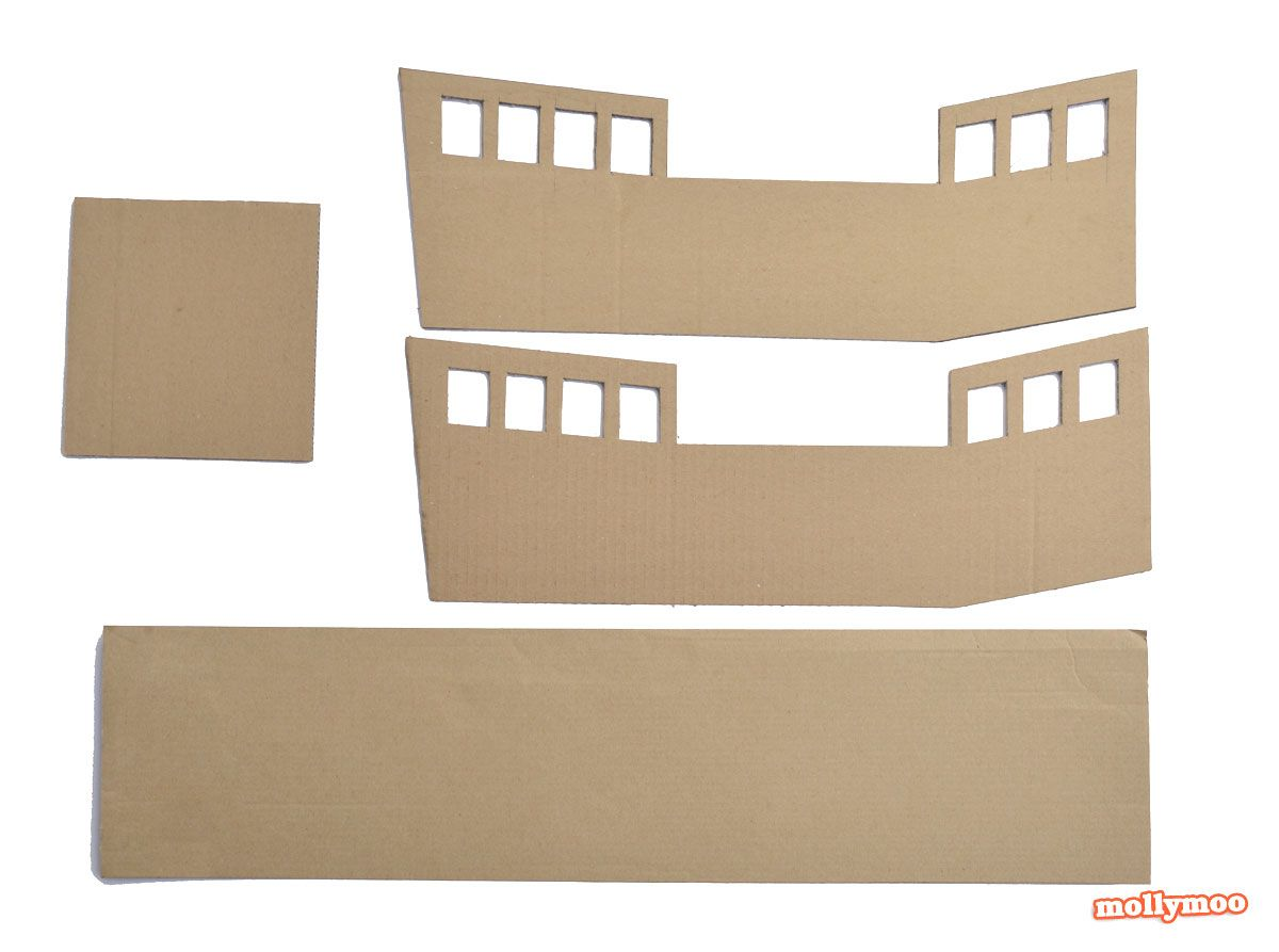 diy cardboard pirate ship craft tutorial projects to try pinterest pirates pirate party. Black Bedroom Furniture Sets. Home Design Ideas