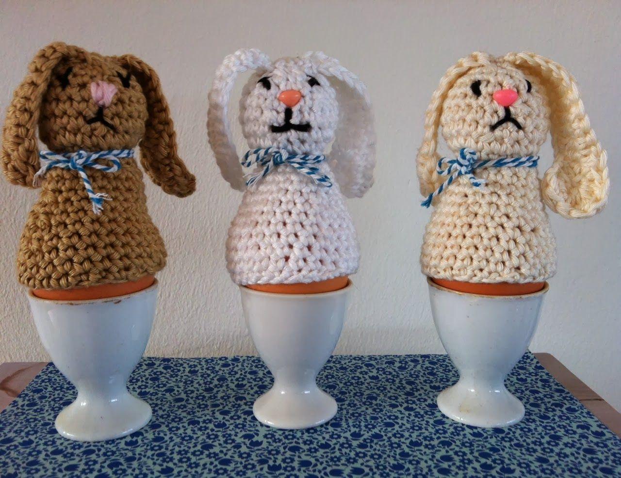 Eierwarmers Haas Gemaakt Door Draad En Praat Crochet Easter Haken