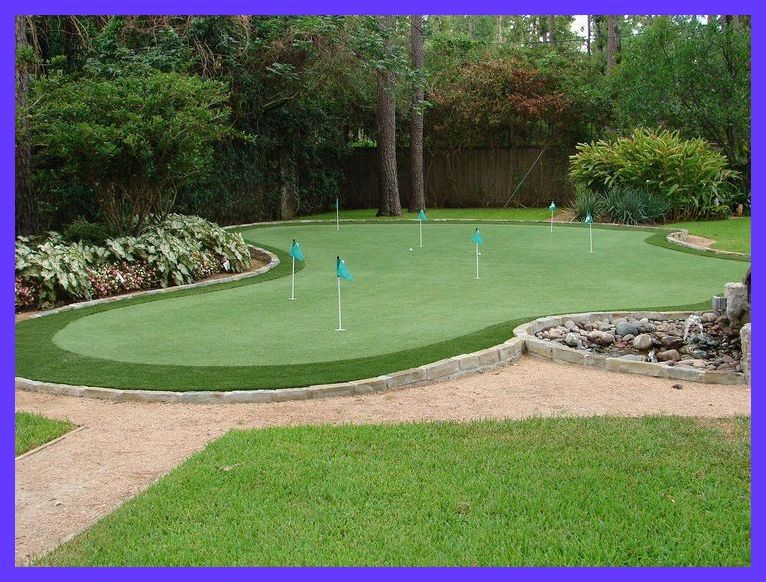 Beautiful Artificial Golf Green Installation By Celebrity Greens