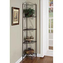 Copper Metal Corner Shelf System | Overstock.com Shopping - Great Deals on Monarch Media/Bookshelves
