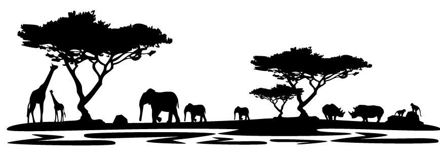 Wandtattoo Landschaft Afrika Wandsticker Design Africa Art Wall