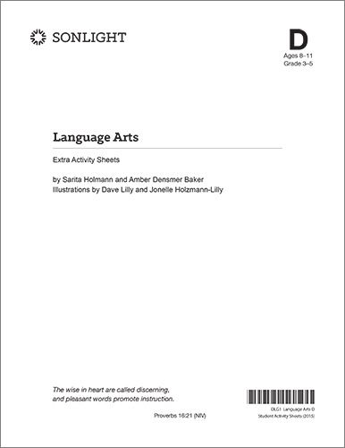 Extra Language Arts D Student Activity Sheets $1259 Curriculum