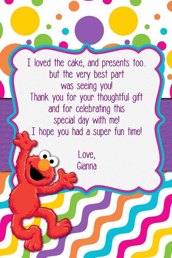 custom made elmo birthday girl invitation elmo by mybabiesbreath - Elmo Birthday Party Invitations