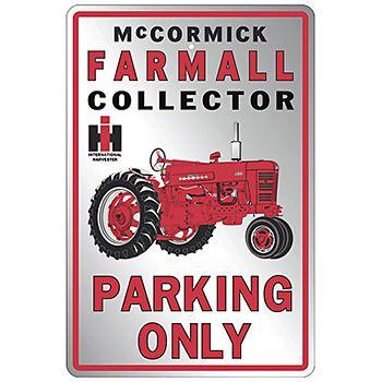 FARMALL McCORMICK INTERNATIONAL HARVESTER CO DISPLAY  SIGN