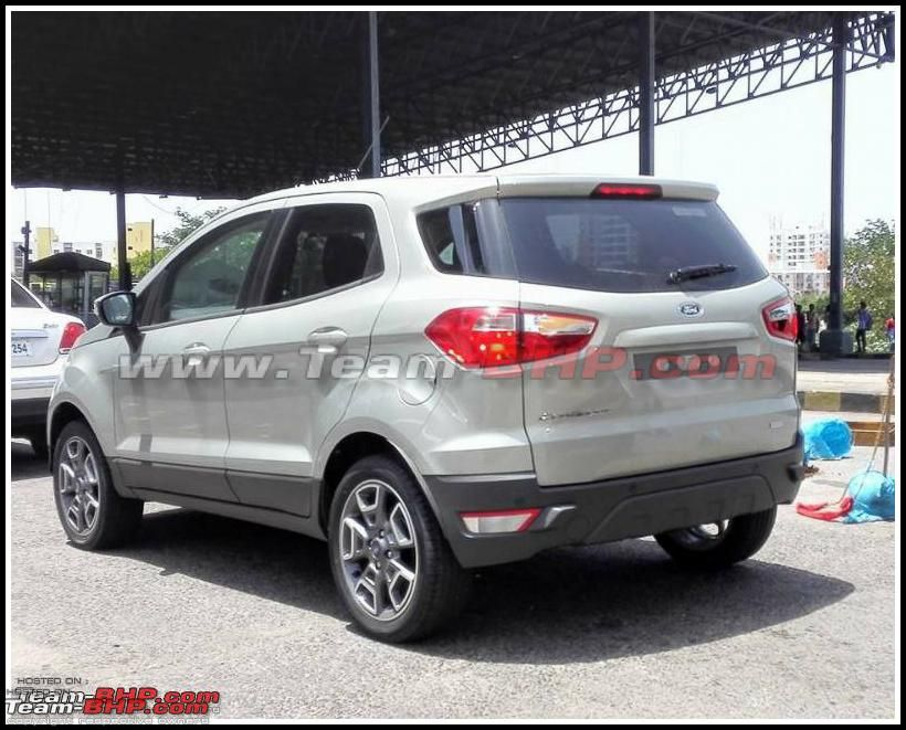 2016 Ford Ecosport Without External Spare Spied In India With