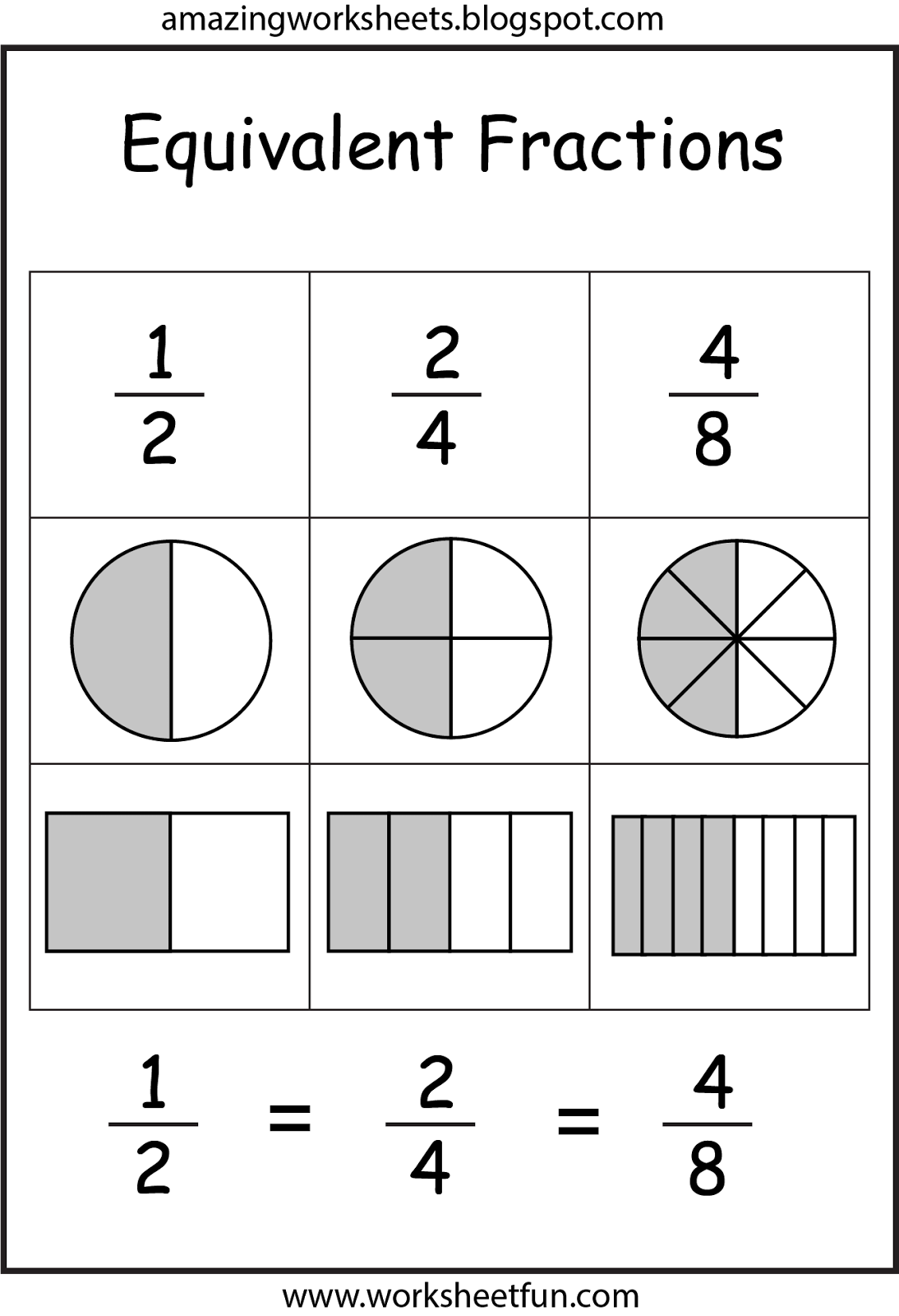 Equivalent fractions homework year 5
