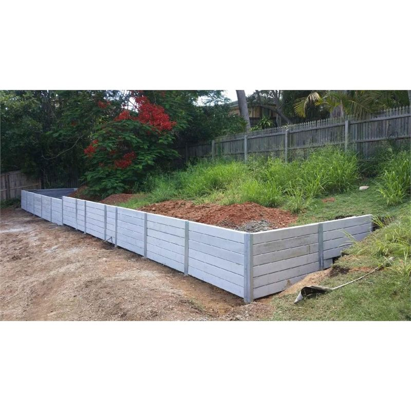 Ridgi 150 X 50mm X 1 5m Smooth Grey Reinforced Concrete Sleeper Landscaping Retaining Walls Concrete Sleepers Concrete Retaining Walls