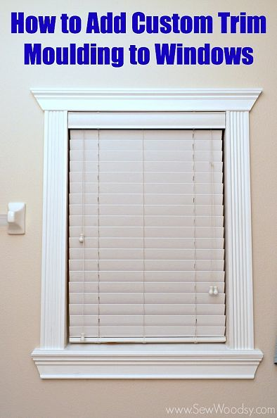 Hometalk  How to Add Custom Trim Moulding To Windows  sc 1 st  Pinterest : window molding - Pezcame.Com