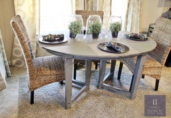 Gray Distressed Dining Kicthen Table By Indigointeriors On Etsy Www Indigointeriors Etsy Com Gr Dining Table In Kitchen Kitchen Table Redo Shabby Chic Kitchen