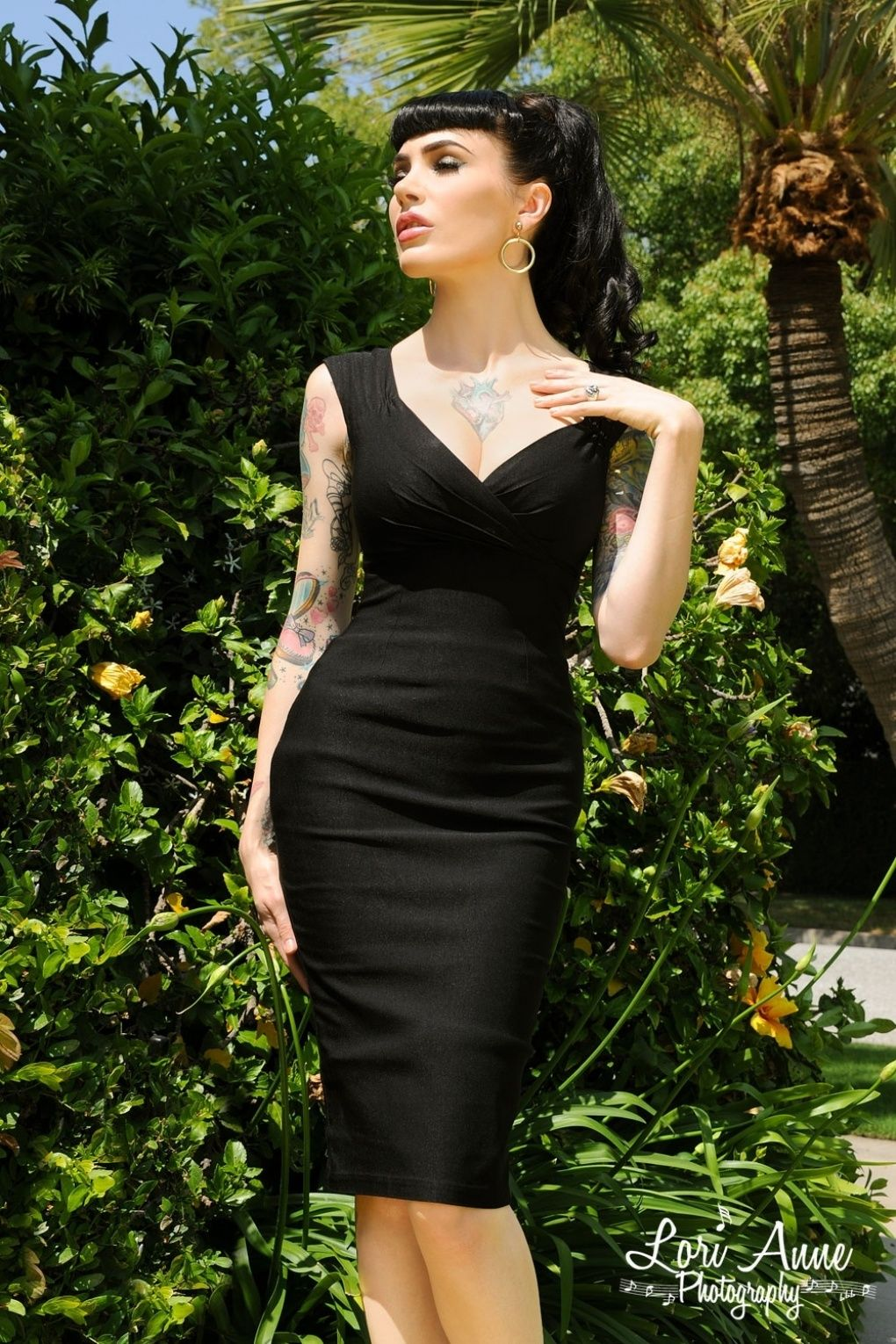 Pinup couture s erin wiggle dress black dresses pinterest