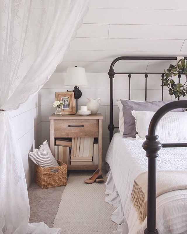 From One Kingslane A Lacy Curtain Like This Bedroom Makes An Ethereal Room Divider Perfect For Shutting Out The Workweek Almost There