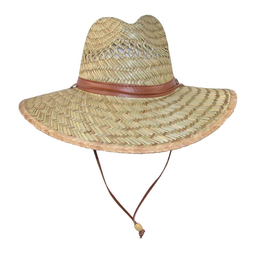 fea201388c42e New CTM Unisex Rush Straw 4 Inch Brim Vented Safari Hat  CTM  WideBrim